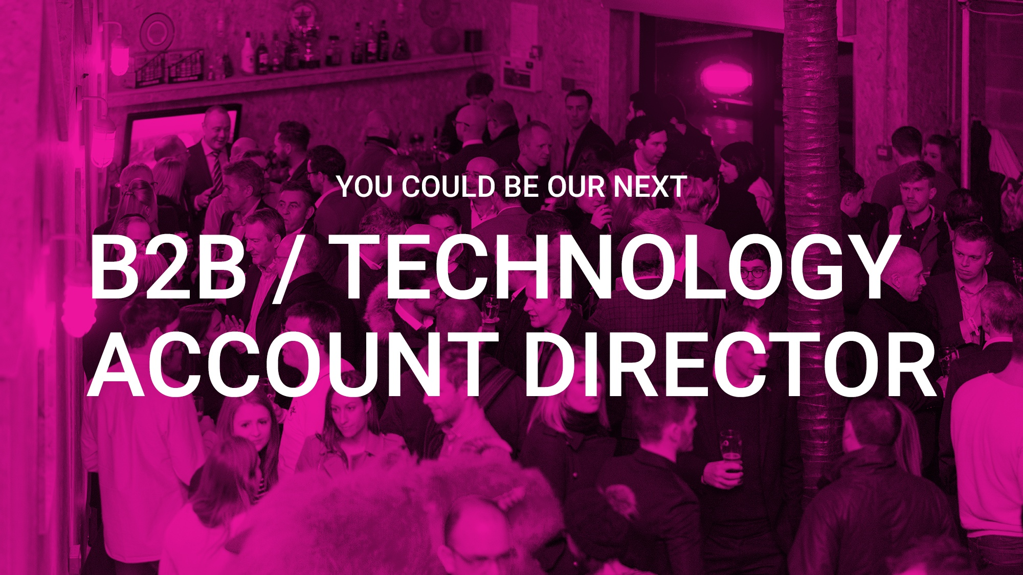 We're recruiting a B2B / technology PR Account Manager